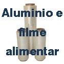 Alumínio e filme alimentar