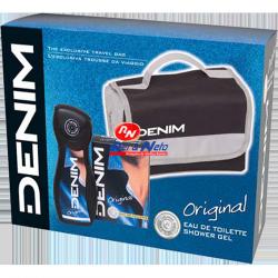 Conjunto Denim EDT 100ml+Gel Banho 250ml+Bolsa