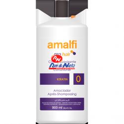 Amaciador Condicionador Cabelo Amalfi Profissional 900 ml Keratina