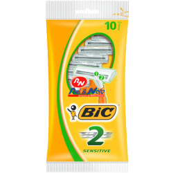 Maquina de Barbear Bic 2 Sensitive pack c/ 5 unds.