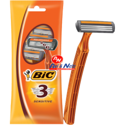 Maquina de Barbear Bic 3 Sensitive pack c/ 2 unds.