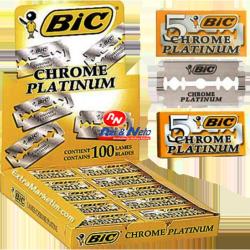 Laminas Bic Chrome Platinium c/ 20 cx de 5 Laminas