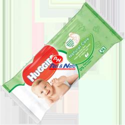 Toalhitas para Bebé Huggies Natural Care caixa de 10 x 56 unds.