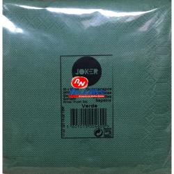 Guardanapo Joker P.P.P. Cor Verde 33x33 Cx de 30 Maços