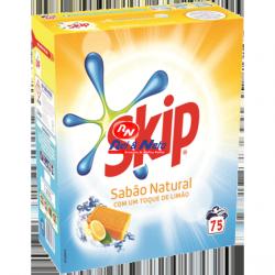 Detergente Roupa Pó Skip Sabão Natural 75 doses
