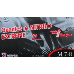 Luvas Nitrilo Preto Extreme c/ 100 Unds.