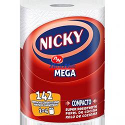 Rolo Cozinha Nicky Branco Mega 1 Igual 4 C/ Maços de 10 rolos