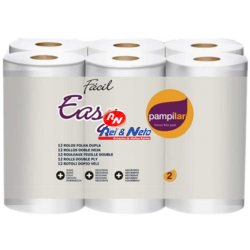 Papel Higiénico Pampilar Easy maços c/ 9x12 Rolos