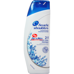 Champô Head & Shoulders Anti-Caspa 200 ml Classic Clean 2 em 1