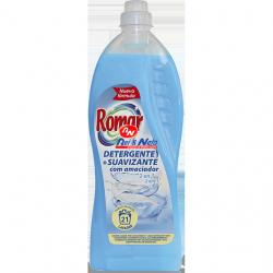 Detergente Roupa Liquido Romar 2 em 1 com Amaciador 1500 ml