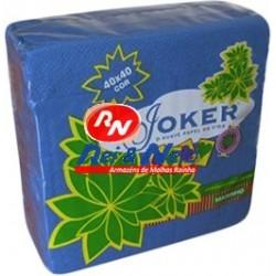 Guardanapo Joker P.P.P. Cor Azul 40x40 Cx de 24 Maços