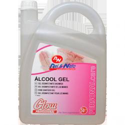 Gel desinfectante de mãos Glow Profissional c/ álcool 5 lts.