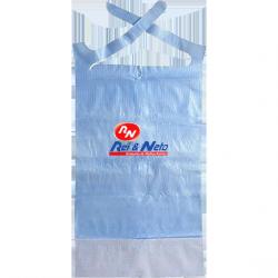 Babetes descartáveis azul c/ bolsa.