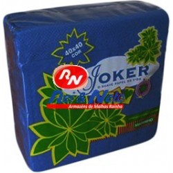 Guardanapo Joker P.P.P. Cor Marinho 40x40 Cx de 24 Maços