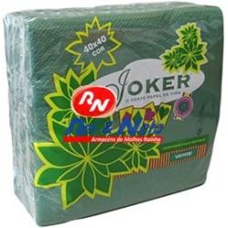 Guardanapo Joker P.P.P. Cor Verde 40x40 Cx de 24 Maços