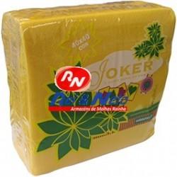 Guardanapo Joker P.P.P. Cor Amarelo 40x40 Cx de 24 Maços