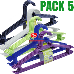 Cabides plástico eco 5 unds