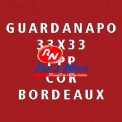 Guardanapo Joker P.P.P. Cor Bordeaux 33x33 Cx de 30 Maços