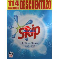 Detergente Roupa Pó Skip Active Clean 114 Doses