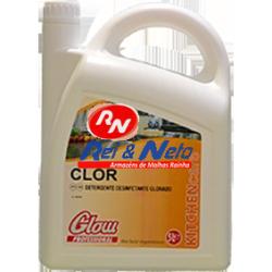 Detergente Desinfetante Glow Clor 5 Lts em gel Clorado