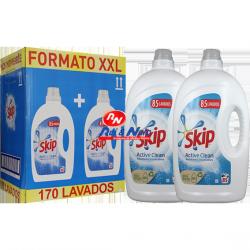 Detergente Roupa Liquido Skip Active clean 80 Doses