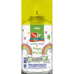 Ambientador Recarga Romar Rainbow Happy Word 335 CC