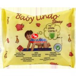 Toalhitas Bebé Baby Lindo 20 unds com Aloevera