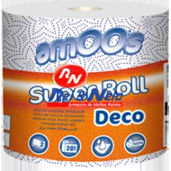 Rolo Cozinha Multisos Decorado 2 fls Amoos Super Roll 1 Igual 10 Maço c/ 1X6 rolos