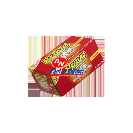 Esfregão Loiça c/ Detergente Bravo Vermelho 6 Unds.