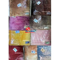 Cobertor Casal 220x230 cm Veludo 100% Acrilico Liso