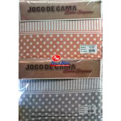 Jogo Cama Solteiro Coralina Elegance Parma 100% Polyester