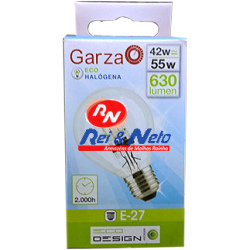 Lâmpada Halogénea Garza Esférica E27 42W Refª 400949