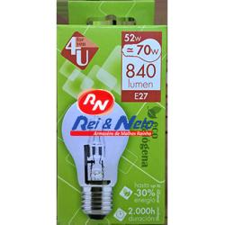 Lâmpada Halogénea 4U Eco GLS A55 E27 52W Refª 400429