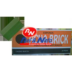 Esponja Acuabrick Natural Retangular 20 Un.