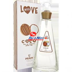 Perfume EDT Frutal Prady Coco  para Senhora 100 ml