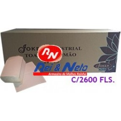 Toalhete Mão Joker Natural Industrial 20X21 (38G/M2) cx. 20x130 Fls. (2600)