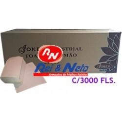 Toalhete Mão Joker Natural Industrial 20X21 (38G/M2) cx. 20x150 Fls. (3000)