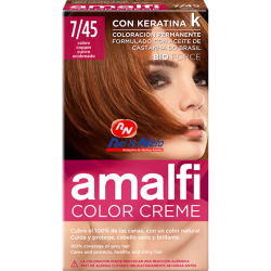 Tinta para Cabelo Amalfi 34 Vermelho Cobre Refª 7/45