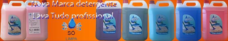 Nova marca em detergentes da área profissional. Só Limpa.